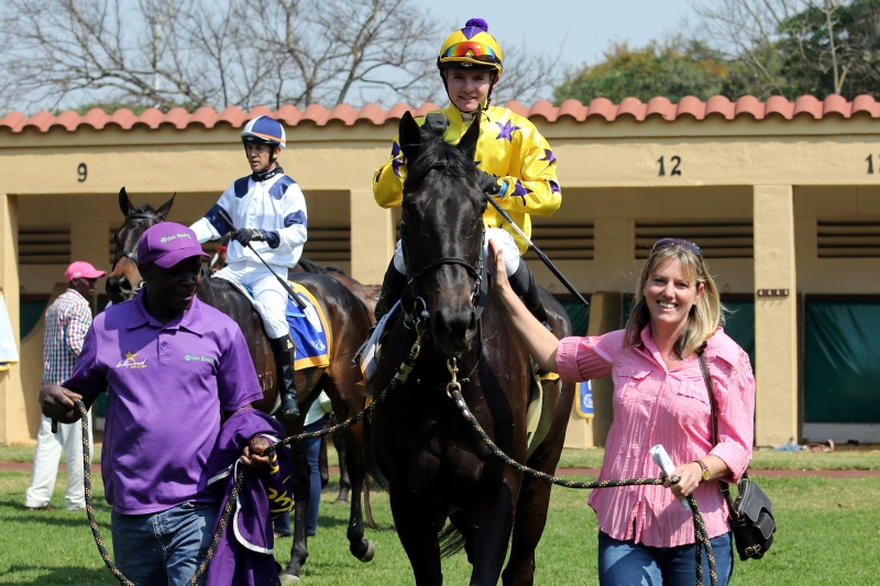 Chilli Affair - Horse - Hollywood Syndicate - Being led in by Alyson Wright at Scottsville