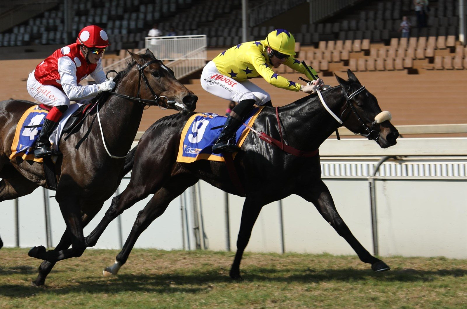Mocha Rose winning at Scottsville in July 2018. Trained by Duncan Howells. Owned by the Hollywood Syndicate.
