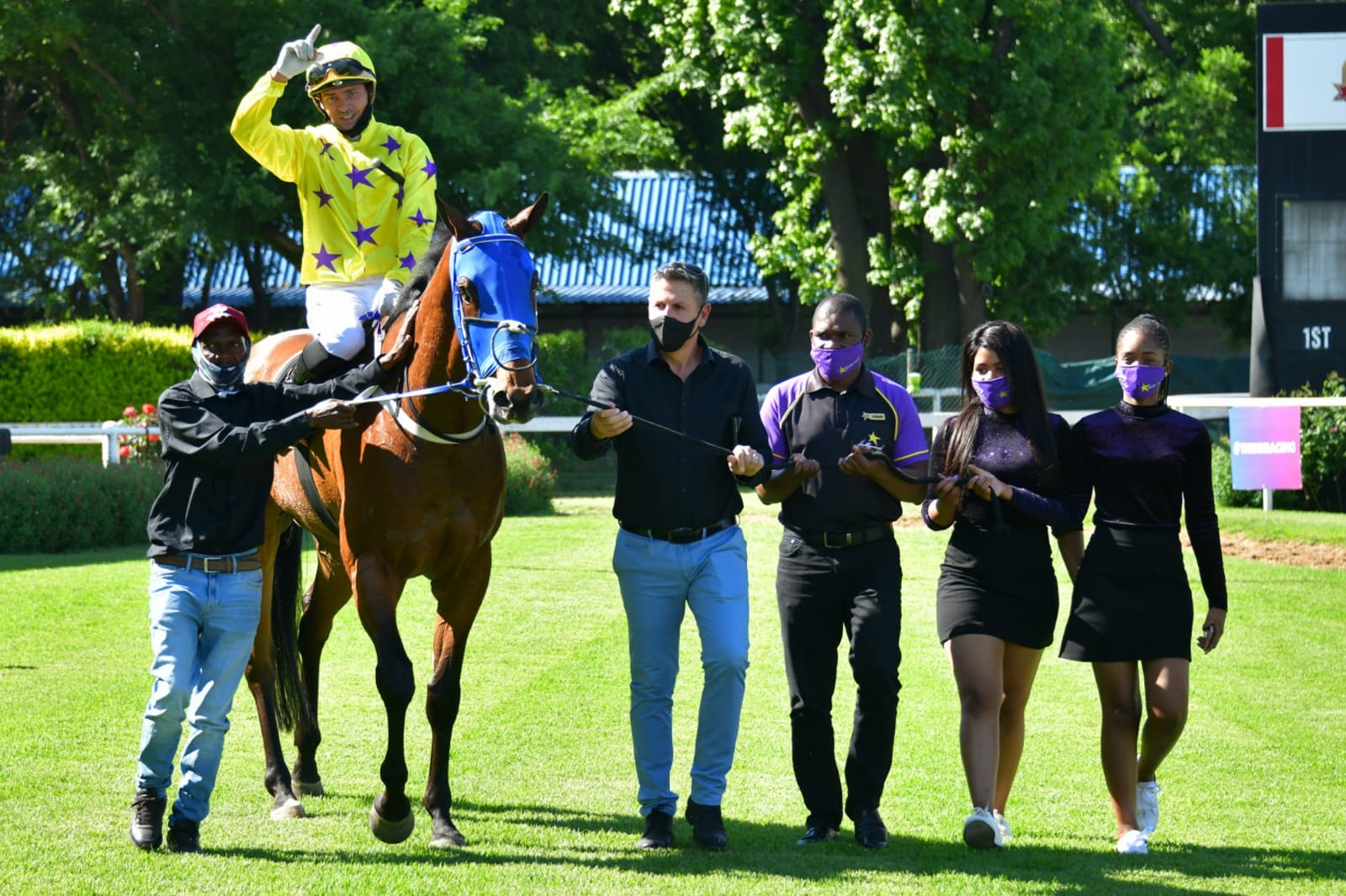 Horse being led in at the Vaal - Lion of the Desert